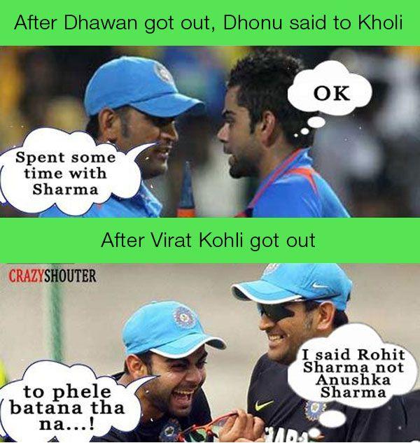 Dhoni Instructions to kohli Funny jokes, Jokes, Memes
