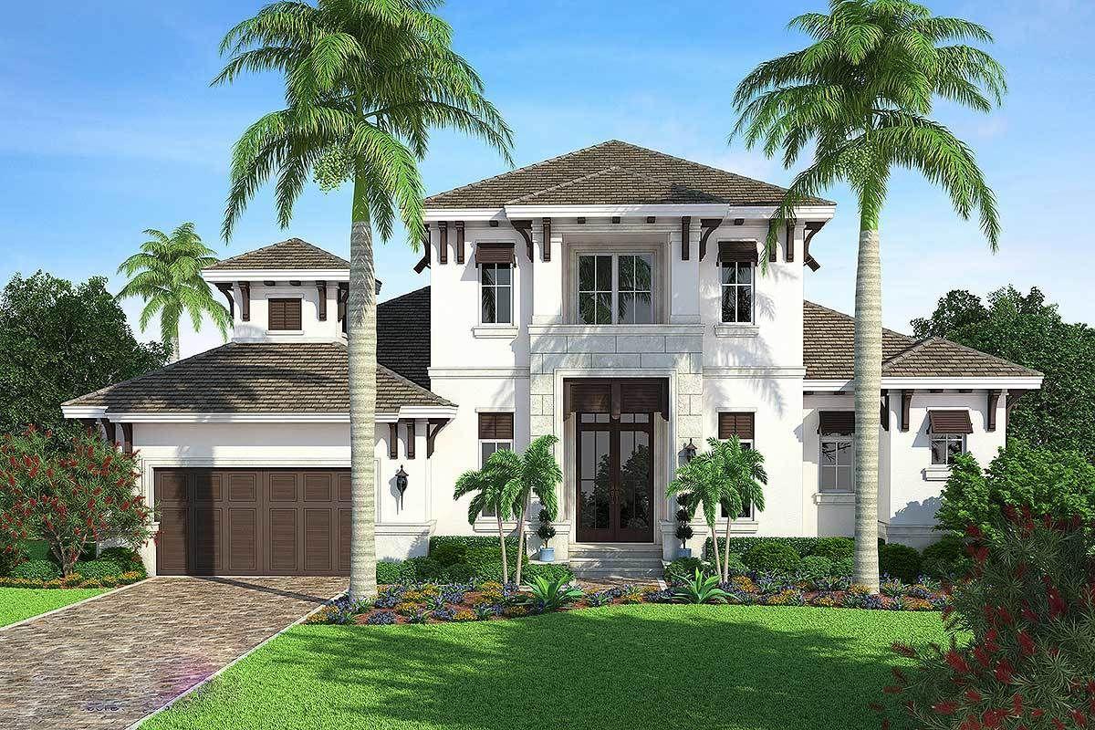 Plan 66344WE Impressive Florida House Plan Plan