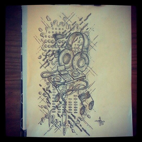 DJ Tattoo Sketch | эскиз | Pinterest | Dj tattoo, Dj and ...