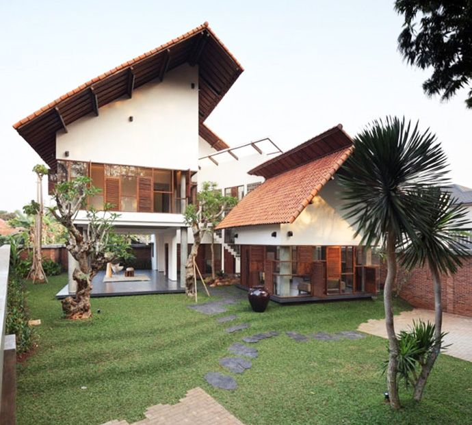 Architects · Spectacular! A Distorted House In Jakarta, Indonesia Designed  By TWS. Tropical House DesignTropical HousesModern ...