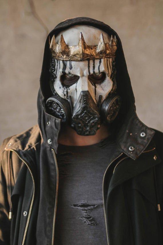 Nuclear king resin fullface skull gas mask etsy in 2021