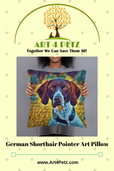 German shorthair pointer Art pillow