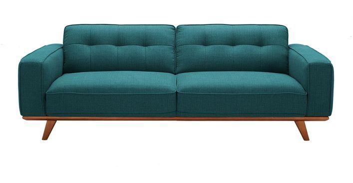 Annaliese Blue Fabric Sofa Contemporary Modern Living Room Furniture Blue Fabric Sofa Modern Furniture Living Room