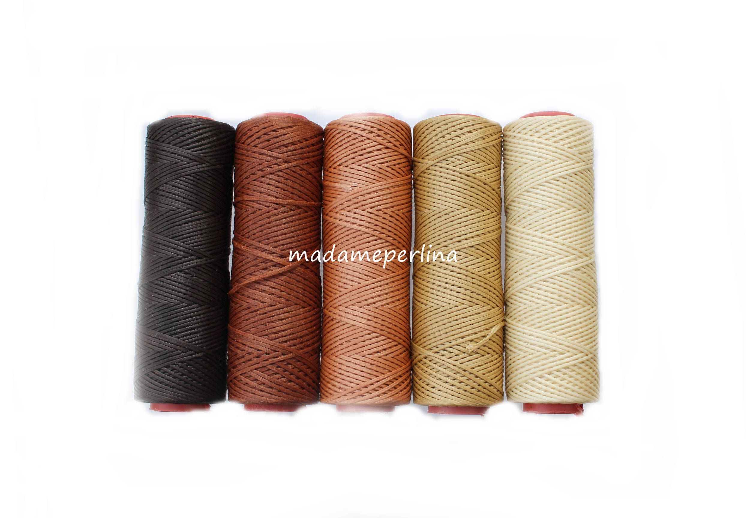 10mtrs Brown Waxed Polyester Cord 1mm