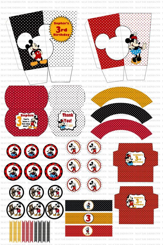 DIY Mickey Mouse Birthday Party Printables | Allestimenti feste ...