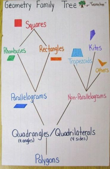 Plenty Of Examples Of Anchor Charts I Especially Like The Geometry