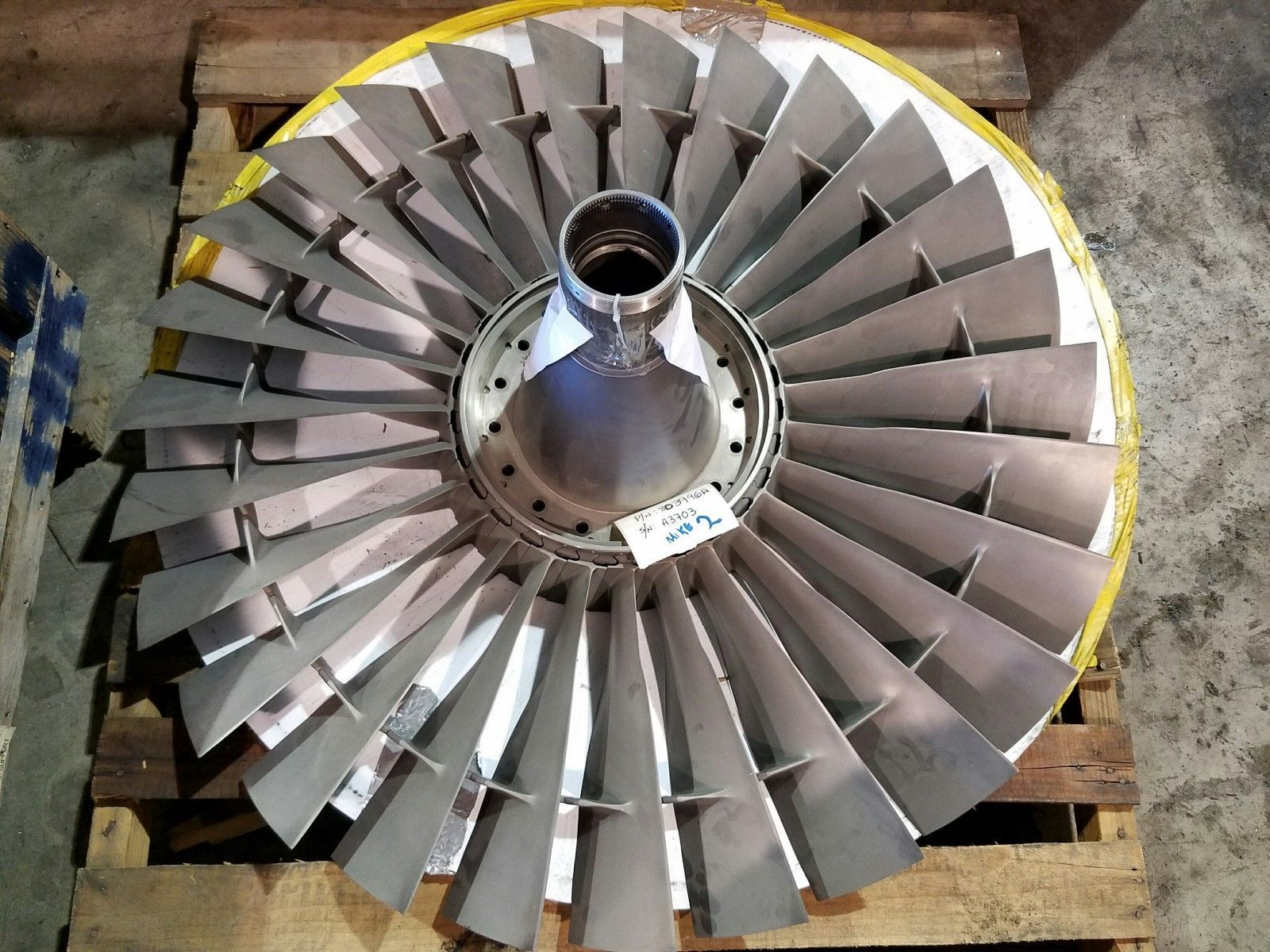 Pratt & Whitney Jt8d Stage 1 pressor Fan Boeing 737 Jet Engine