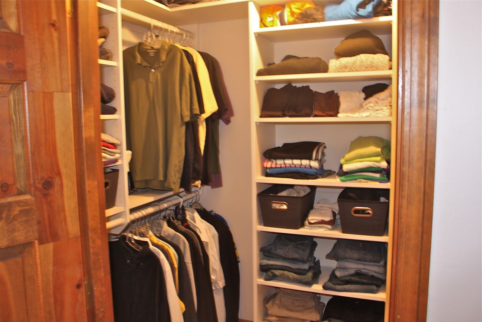 Portrait of easy closet organization ideas that ease you for Simple closet ideas