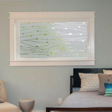 stickers occultant vague pois fen tre pinterest stickers vagues et occultant fenetre. Black Bedroom Furniture Sets. Home Design Ideas
