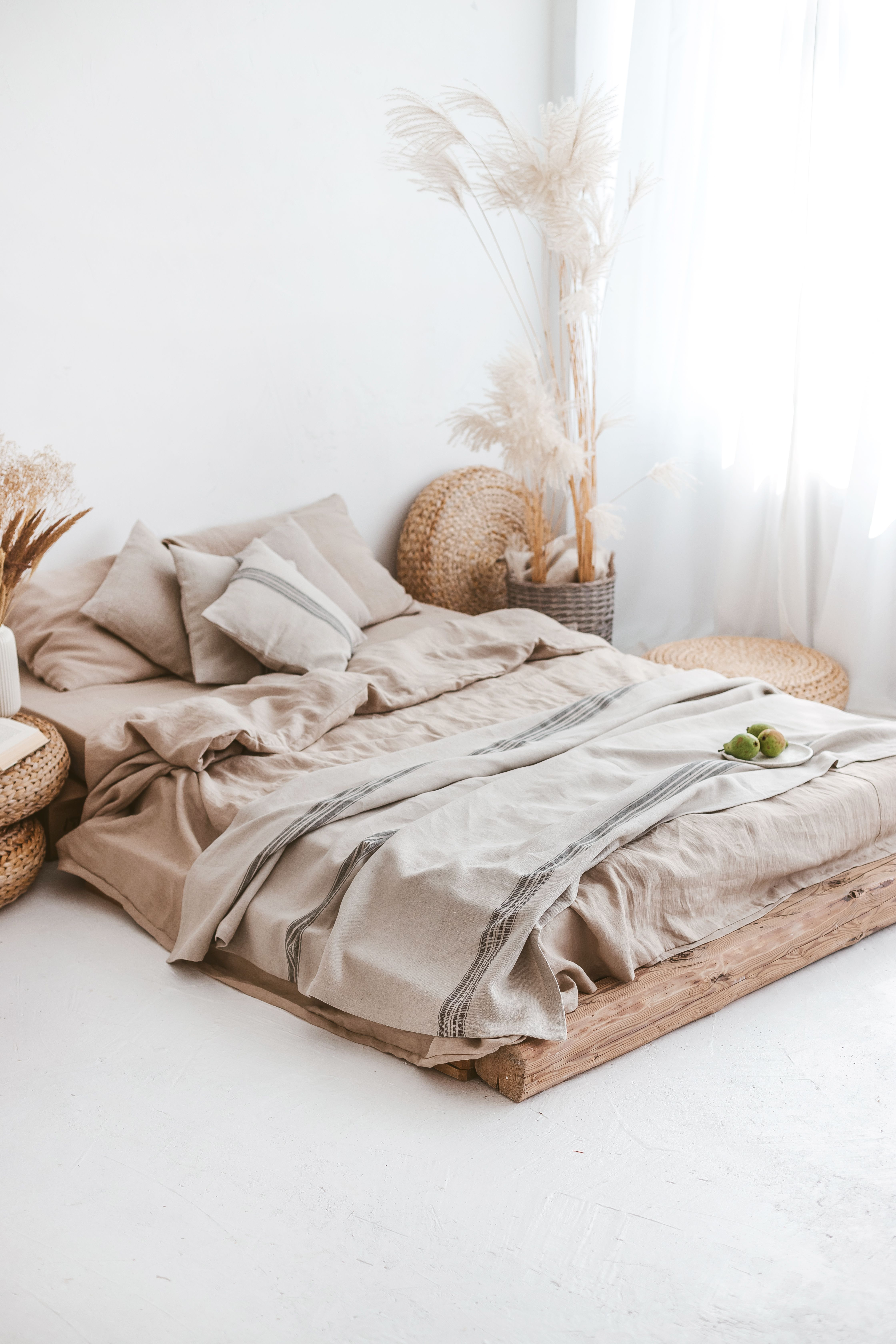 Linen Throw Blanket Decorative Throw Blanket Rustic Linen Etsy In 2021 Vintage Bed Home Decor Decorative Throws Blanket