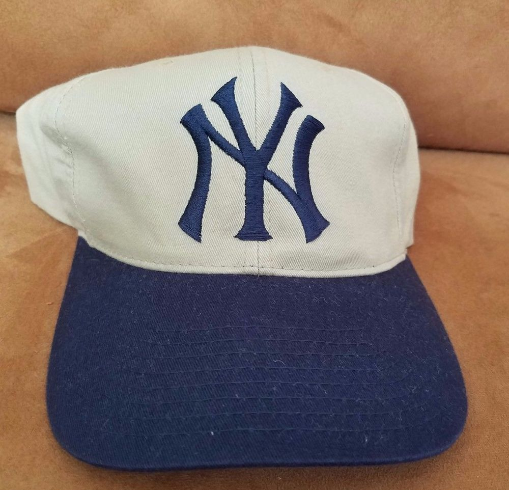 2e2820476 Vintage New York Yankees Hat Blue Grey Grosscap cap snapback One ...