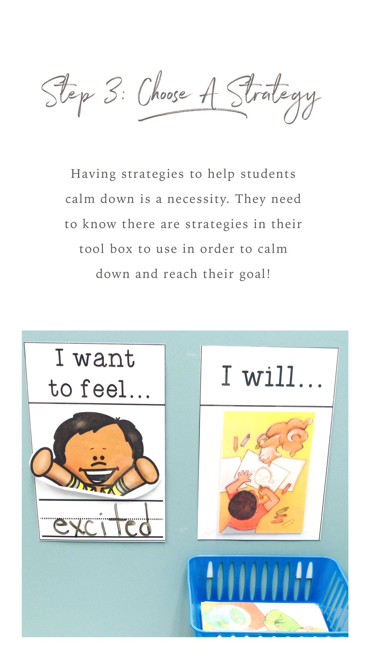 Interactive Cool Down Corner Social emotional learning