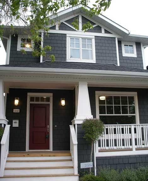 Exterior Paint Colors Blue exterior paint color: black jack 2133-20; garage door and dark