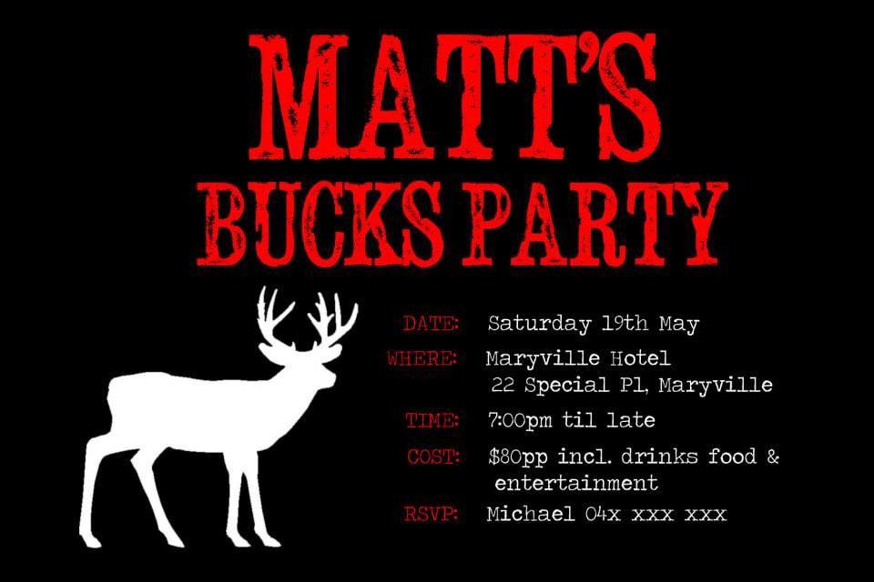 Pin by invitingbyrenee on Bucks Party Invites | Pinterest