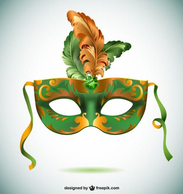 Máscara carnaval de Brasil Vector Gratis  c16c2fca8ac