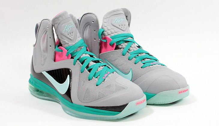 buy online 913ee 754e0 Special Milano   Nike Basket   Elite Series South Beach Lebron 9 P.S. Elite  Wolf Grey   Mint Candy New Green Pink   Sneakers