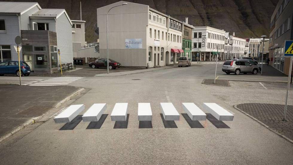 A faixa de pedestres que engana o cérebro do motorista para que freie | Internacional | EL PAÍS Brasil