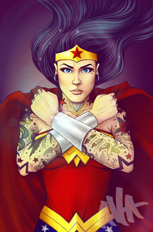 A Modern Wonder By Electricalivia On Deviantart Wonder Woman Art Wonder Woman Tattoo Wonder Woman