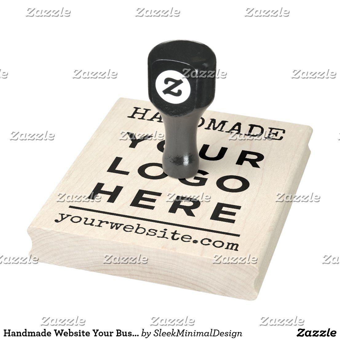 Handmade Website Your Business Logo Custom Rubber Stamp
