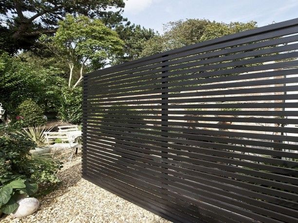 Beautify The Minimalist Living With Horizontal Wood Fence: Modern  Horizontal Wooden Fence Panels ~ Lanewstalk