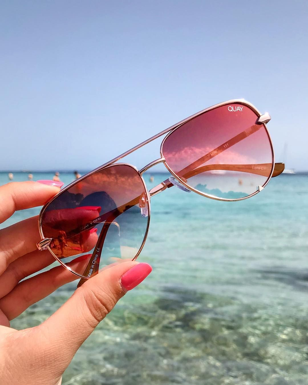 13a66479552c2 got us planning our next sunny escape. What s next up on your travel bucket  list  🌏 HIGH KEY MINI rose copper fade  QUAYXDESI  QUAYAUSTRALIA