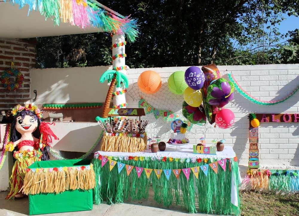 Luau / Hawaiian Birthday Party Ideas | Luau, Hawaiian birthday and ...