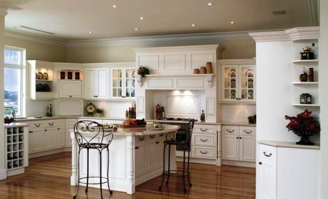 Idéias de decoração da cozinha de luxo Branca