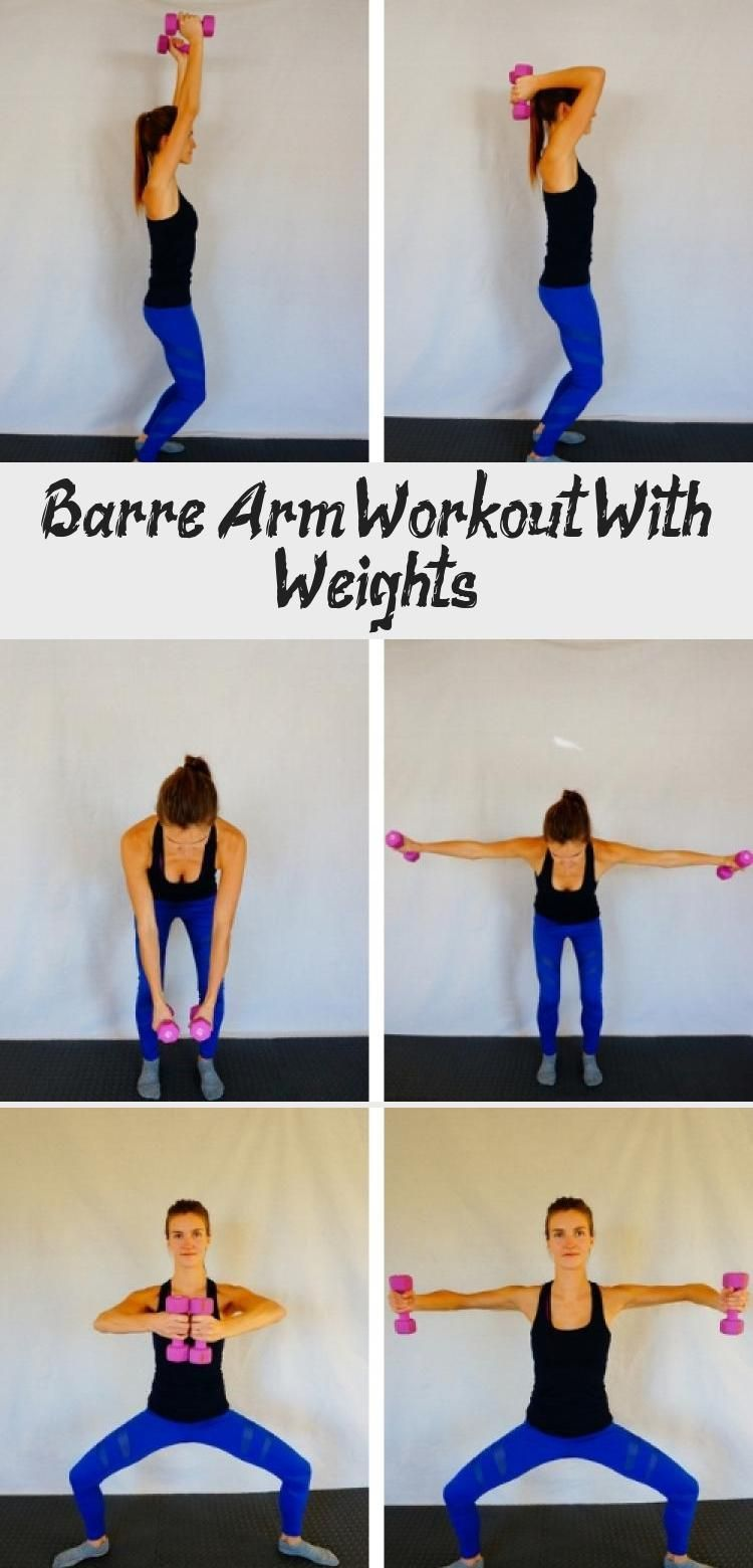 Barre Arm Workout With Weights #beginnerarmworkouts
