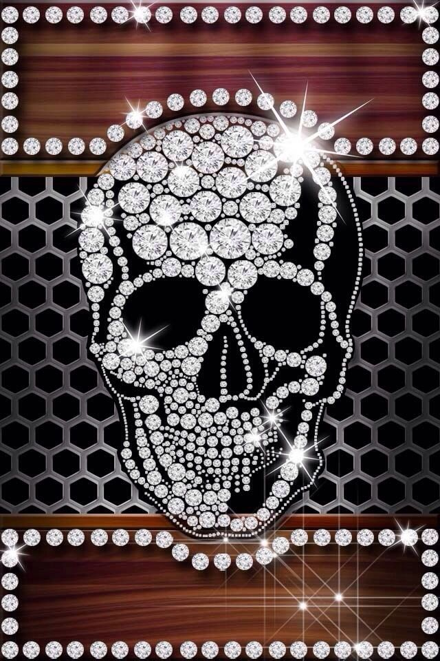 Girly Skull Iphone Wallpaper Background Skull Wallpaper