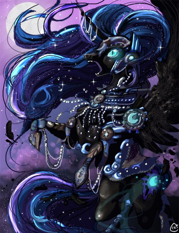 Nightmare Moon by CorrsollaRobot.deviantart.com on @deviantART