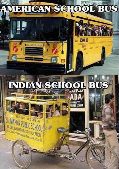 American Vs Indian School Buses With Images School Bus