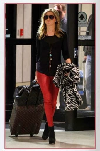 Red Blouse with Leggings