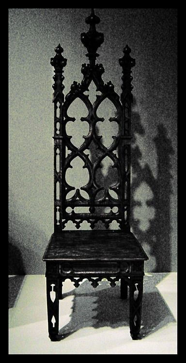 lovely black gothic high backed chair black chair. Black Bedroom Furniture Sets. Home Design Ideas