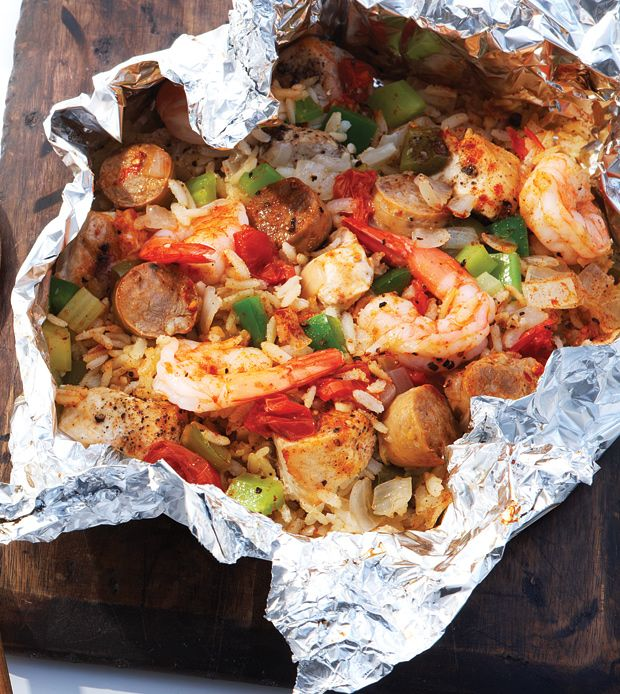 Foil packets are a preferred cooking method for good reason: Cleanup is a breeze (crumple and toss foil!) and our Cajun Jambalaya recipe is incredibly tender!