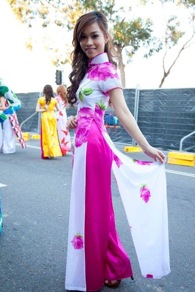 vietnamese traditional dress fun floral and modern ao dai