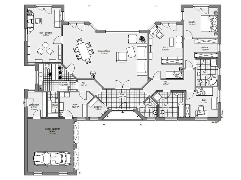 Traumhaus grundriss  Bungalow | Hausbau | Pinterest | Grundrisse, Traumhäuser und ...