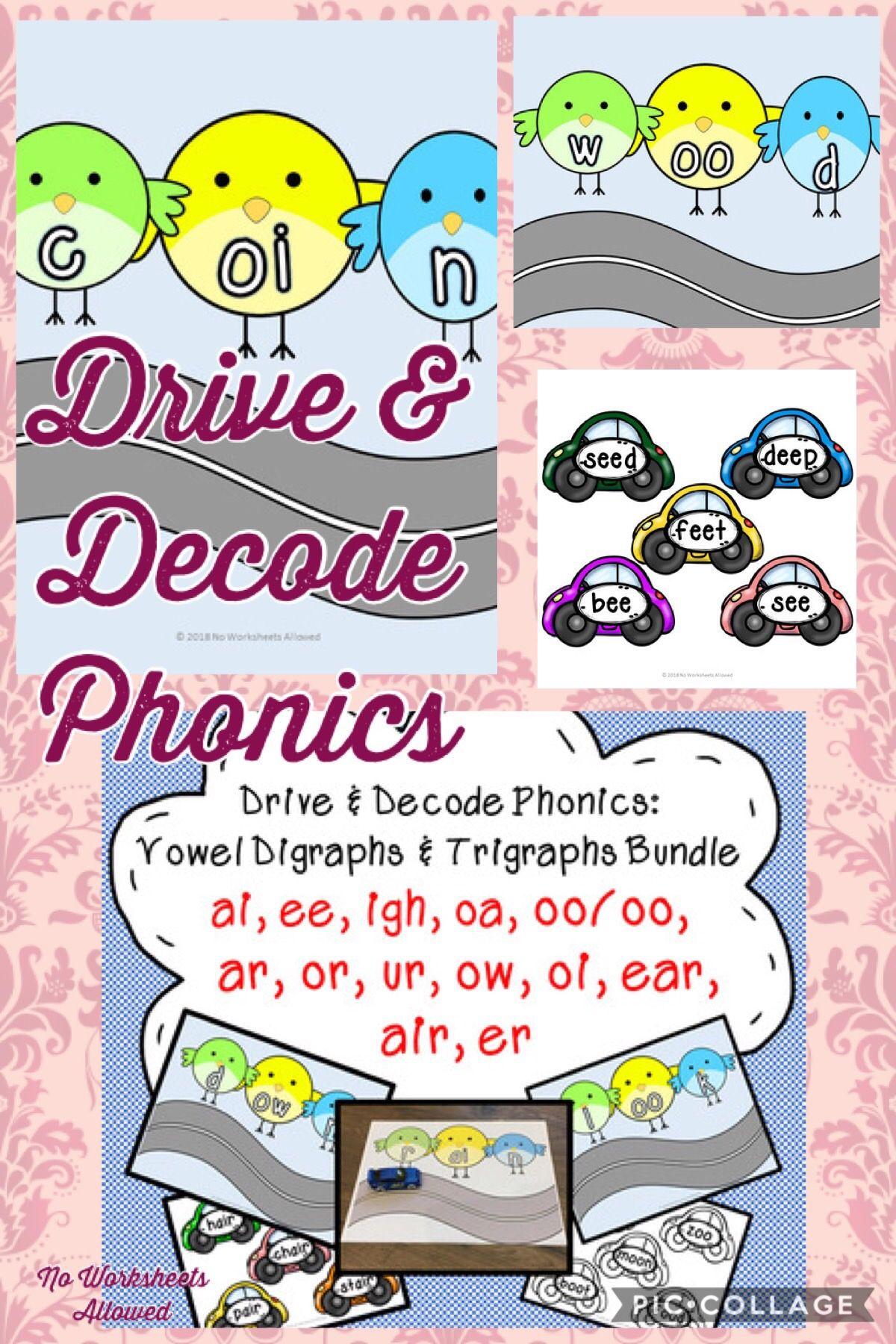 Vowel Digraphs Amp Trigraphs Phonics Activity Bundle