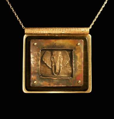 Bronze Elephant Pendant