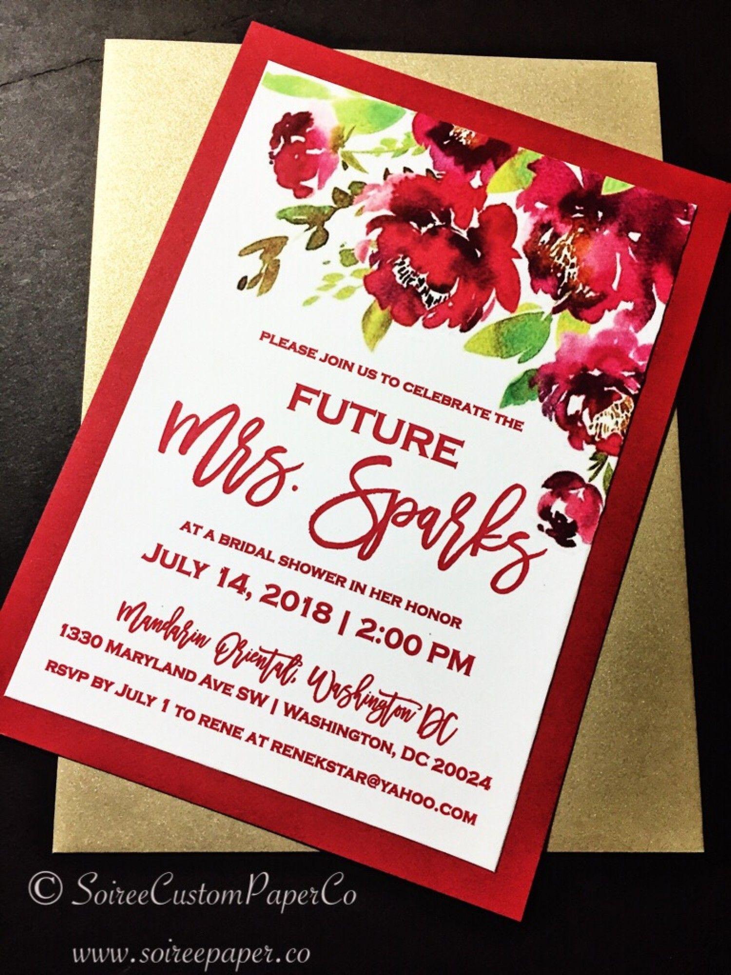 Bridal Shower Invitation - Watercolor Floral Bridal Shower ...