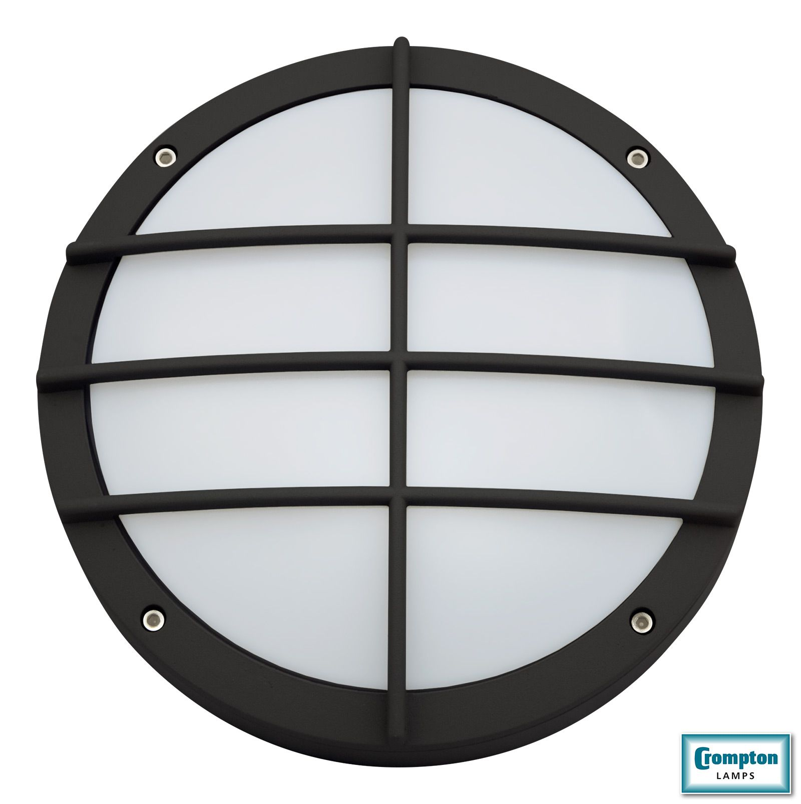 Granite Grid Bulkhead Heavy Duty Round Die Cast Aluminium Bulkhead Luminaires With Grid Design And Polycarbonate Opal Diffuse Grid Design Light Bulb Diffuser