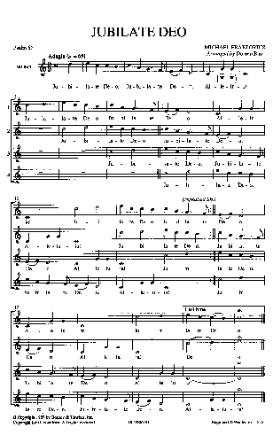 jubilate deo sheet music pdf