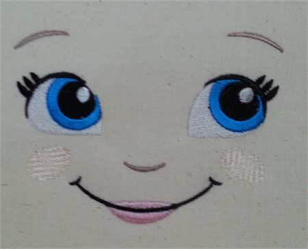 Machine Embroidery Dolls Face perfect for Doll Making #dollmaking