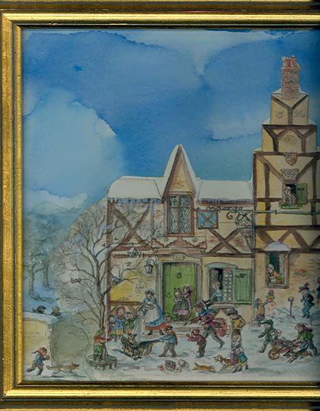 Tudor Tasha  Cellar Door Books - The World & CHRISTMAS VILLAGE. Original art. Tudor Tasha : Cellar Door Books ...