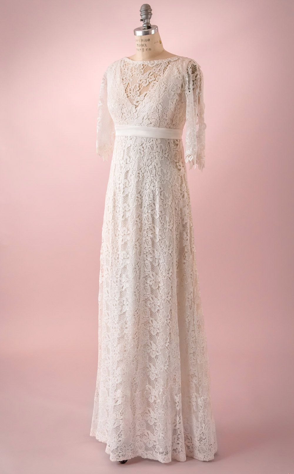 Anna by martin mccrea allover guipure lace wedding dress with