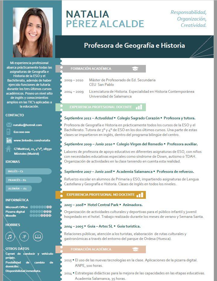 Curriculum para profesor. Creamos curriculums especiales para profesores. Entra a nuestra web ...