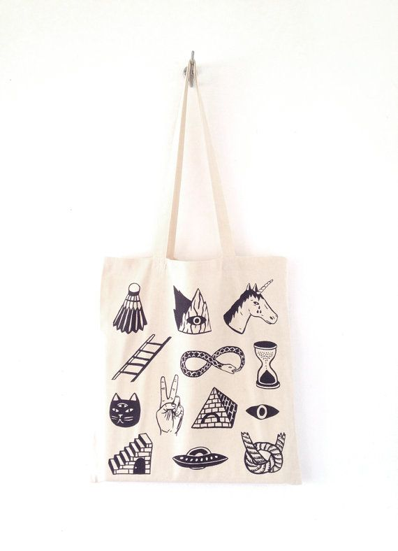 Screen Printed Canvas Tote Bag