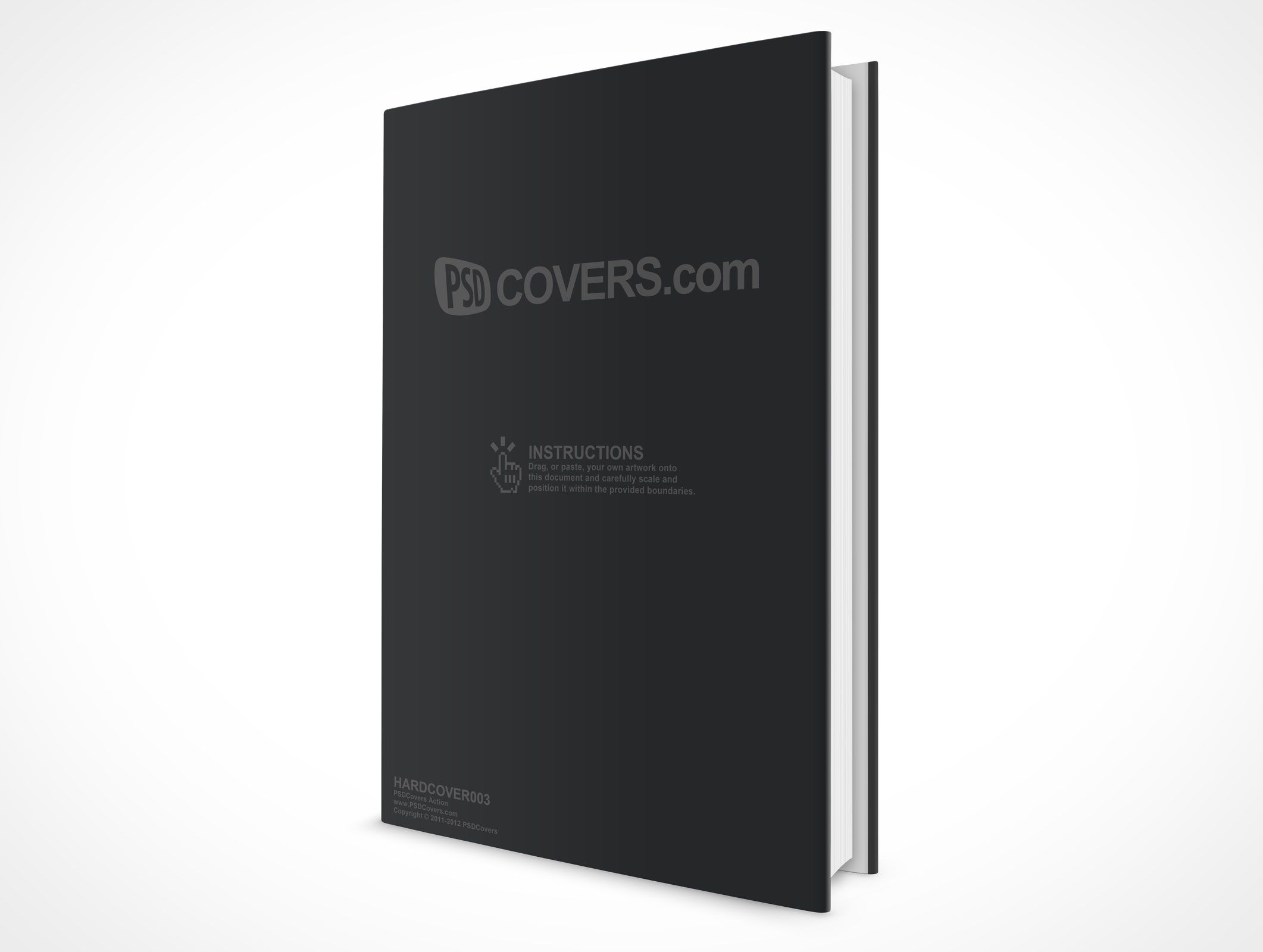 450 Page Hardcover Ebook Cover Ebook Cover Psd Photoshop Mockup