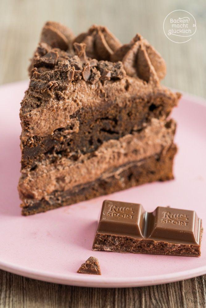 schokoladen brownie torte rezept nachtisch pinterest kuchen schoko und schokolade. Black Bedroom Furniture Sets. Home Design Ideas