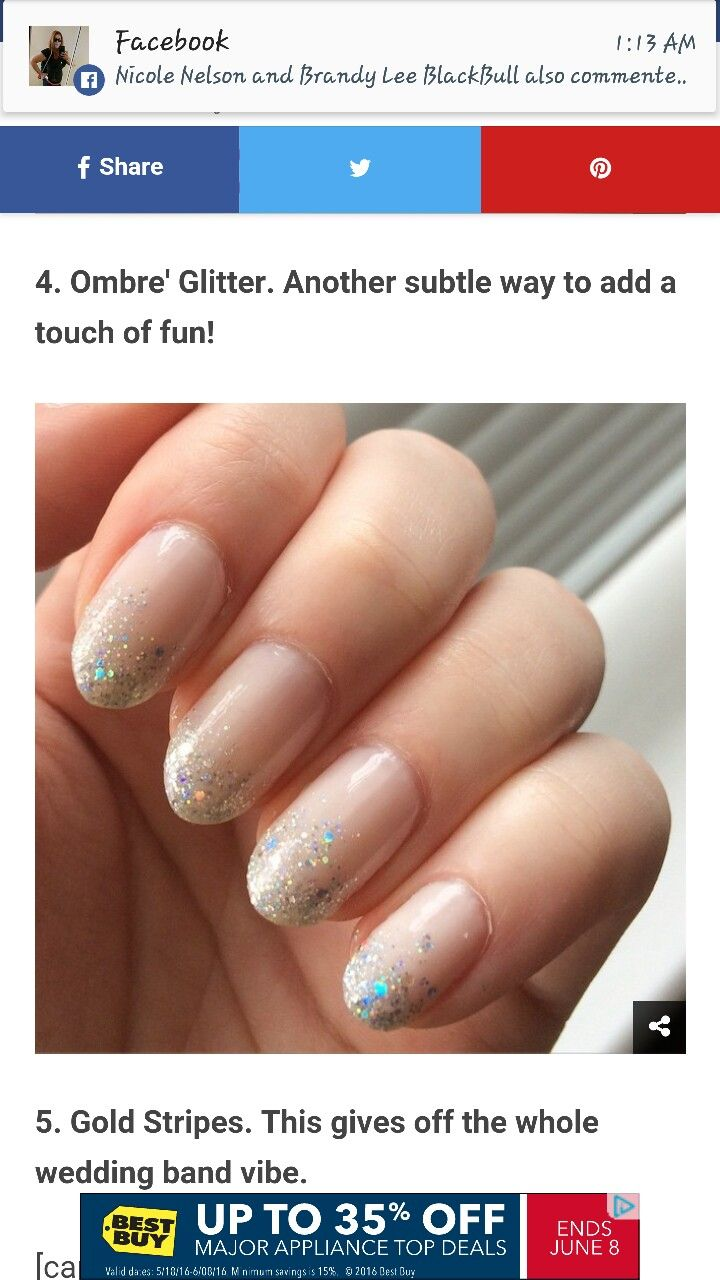 Nails and piercings image by Cari Tesch Glitter ombre