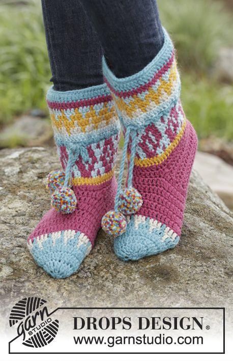 Rock Them Socks Drops 172 19 Gehäkelte Drops Hausschuhe In Nepal